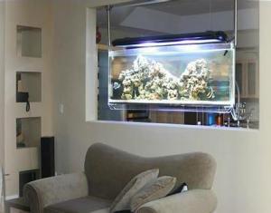 L acquario come divisorio di ambienti https for Arredamento acquario